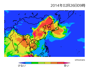 PM2.5分布図